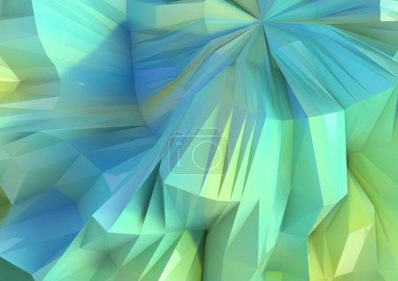 Huge Low Poly Blue and Green Reflective Background