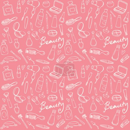 Cosmetics and beauty pattern