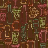 Pivní koktejl a alkohol pozadí