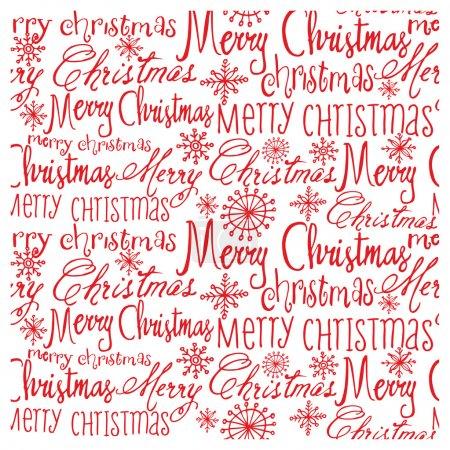 Illustration pour Vecteur rouge Noël mots vectorielle continue modèle - image libre de droit