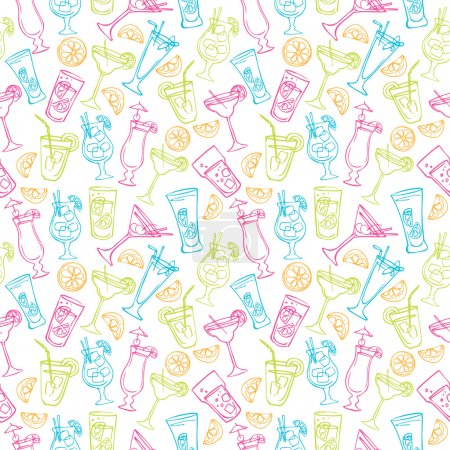 Cocktail drinks pattern