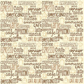 Vector illustration of seamless coffee pattern