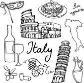 icônes de l'Italie