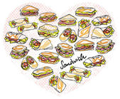 Sandwiches  in heart shape