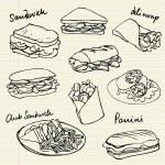 Vector sandwich doodle...