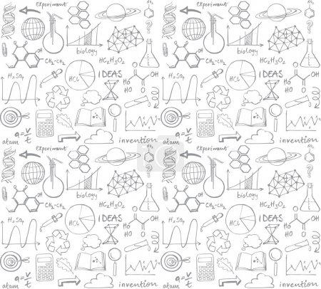 Photo pour Science vectorielle doodle fond sans couture - image libre de droit