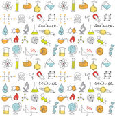 Vector science doodles seamless background