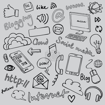 Communication and internet doodles