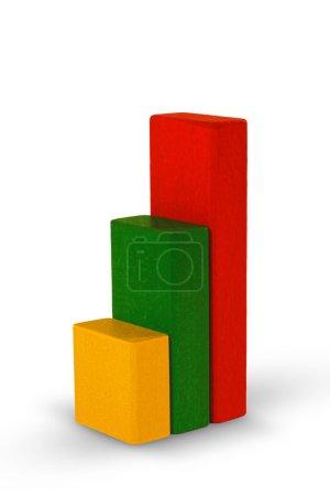 Photo pour Diagramme réalisé à partir de blocs d'enfants. (avec chemin de coupure ) - image libre de droit