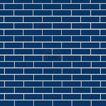 Blue brick wall vector