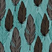 Bird feather pattern