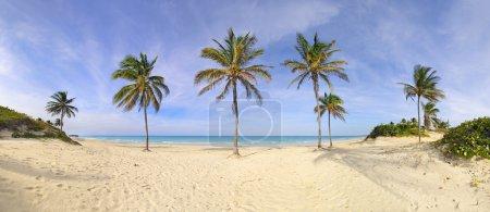 Santa Maria beach panorama, cuba