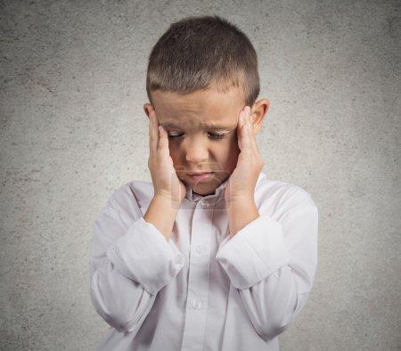 Sad, stressed boy