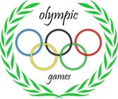 Olympic rings with leaves