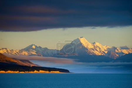 Mt Cook view from the blue lake Pukaki