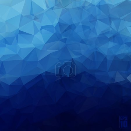Illustration for Abstract geometric background of triangles in blue colors. - Royalty Free Image