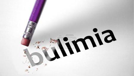 Photo pour Effacer la suppression du mot Boulimie - image libre de droit