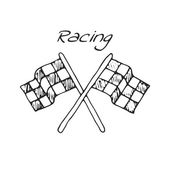 Racing flag  in a drawing style Vector