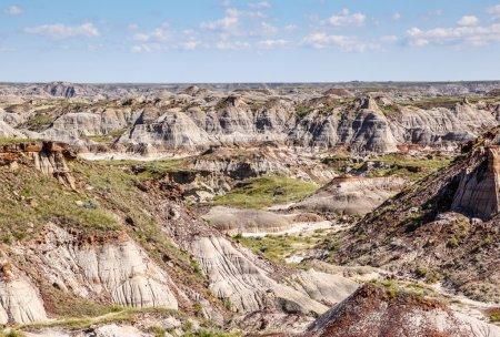 Photo pour Les badlands de Drumheller, en Alberta, sont célèbres pour leurs riches gisements de fossiles, dont des os de dinosaures. . - image libre de droit