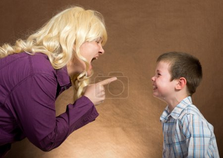 Photo for Mother yelling at children - Royalty Free Image