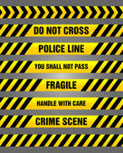 Caution tapes - yellow and black warning pattern