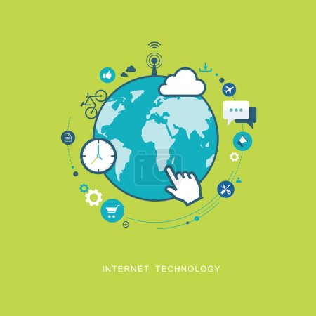 Illustration for Internet technology flat illustration. eps8 - Royalty Free Image