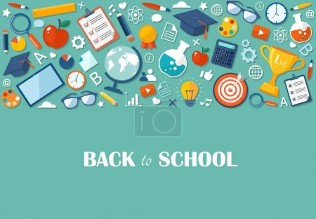 Back to school flat illustration