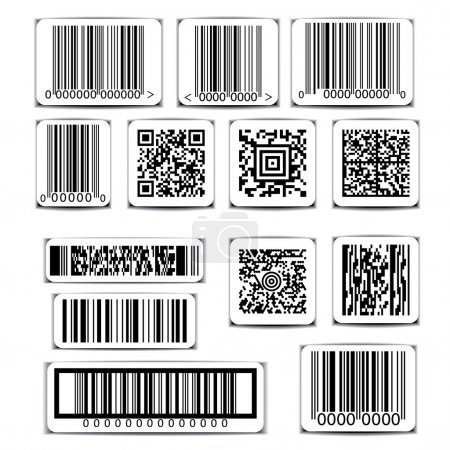 Barcode label set vector on white background