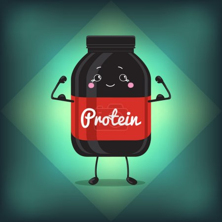 Cute Jar Sport Nutrition, Protein, Gainer, Black, Can Cap Bottle With Label.