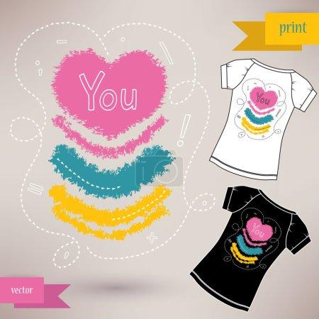 Illustration pour Conception graphique t-shirt que vous vector illustration - chemise imprimée - image libre de droit