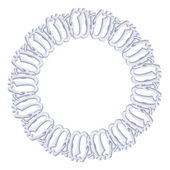 Round frame on a white background - silver chain religious symbol Islam