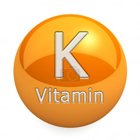 Photo pour Vitamin K, Isolated On White Background - image libre de droit