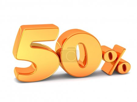 50-процентный дисконтный символ