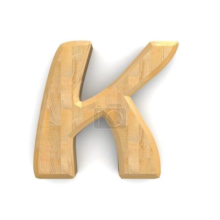3d wooden letter K .