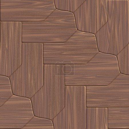 Photo pour Texture bois. Sol stratifié ou bois. Fond en bois. 3d Rendre de haute qualité. Concept de conception . - image libre de droit