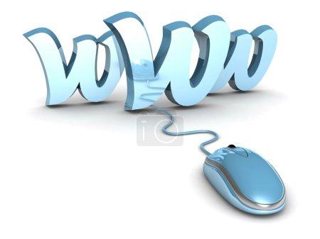 Www internet. 3d illustration