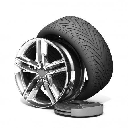 Wheels, Rims , brake pads and discs.