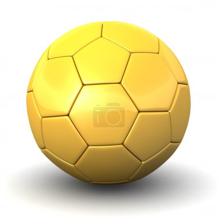 3d Golden Ball (soccer ball)