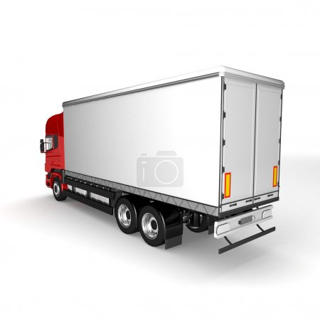 Cargo truck. delivery car isolated