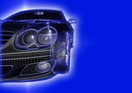 Car 3d model isolated