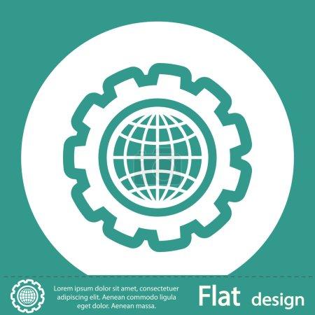 Photo pour Icône de la planète, design plat - image libre de droit