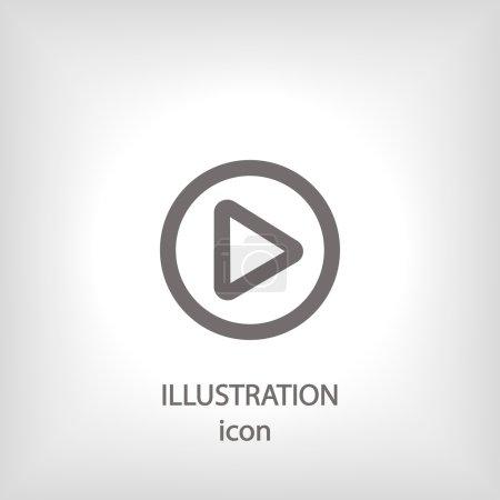 Photo pour Jouez icône web bouton. Style design plat - image libre de droit