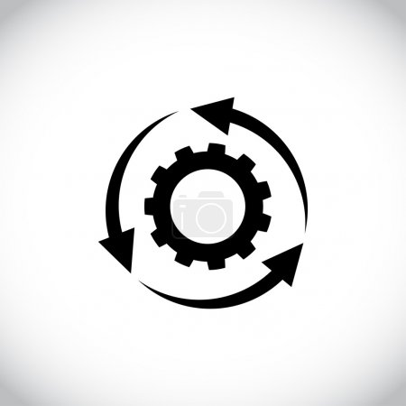Circular arrows icon