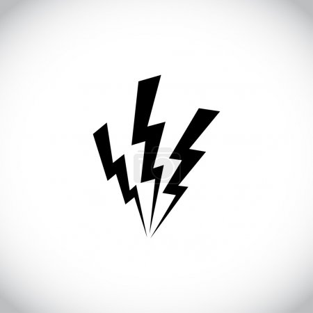 Foto de Icono de perno de Relámpago blanco sobre fondo oscuro - Imagen libre de derechos