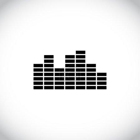 Photo pour Icône de l'égaliseur musical. Style design plat - image libre de droit