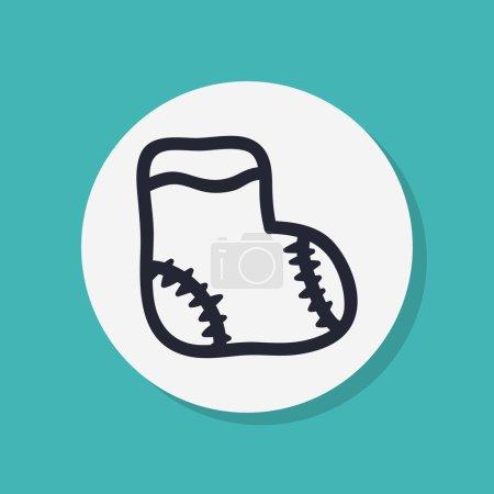 Sock icon, flat design