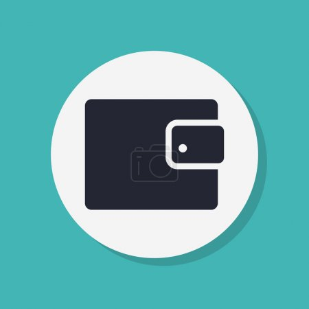 Wallet icon Flat design style