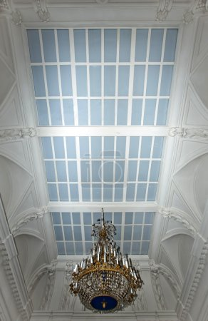 Glass ceiling with luster in old magnific palace
