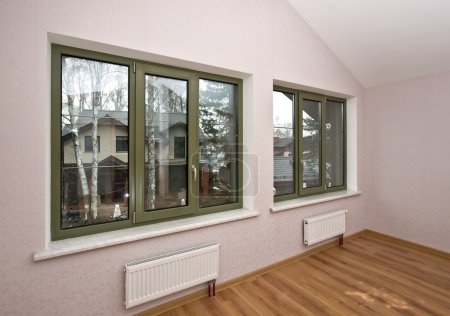 Fiberglass windows with decorative elements