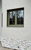 Green fiberglass windows